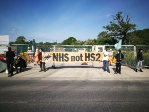 HS2 Rebellion blockade multiple HS2 crime sites from Euston to Warwickshire