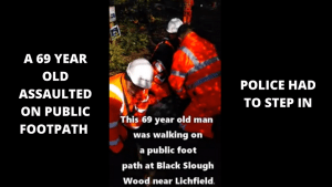 HS2 security assault a 69 year old man on public footpath